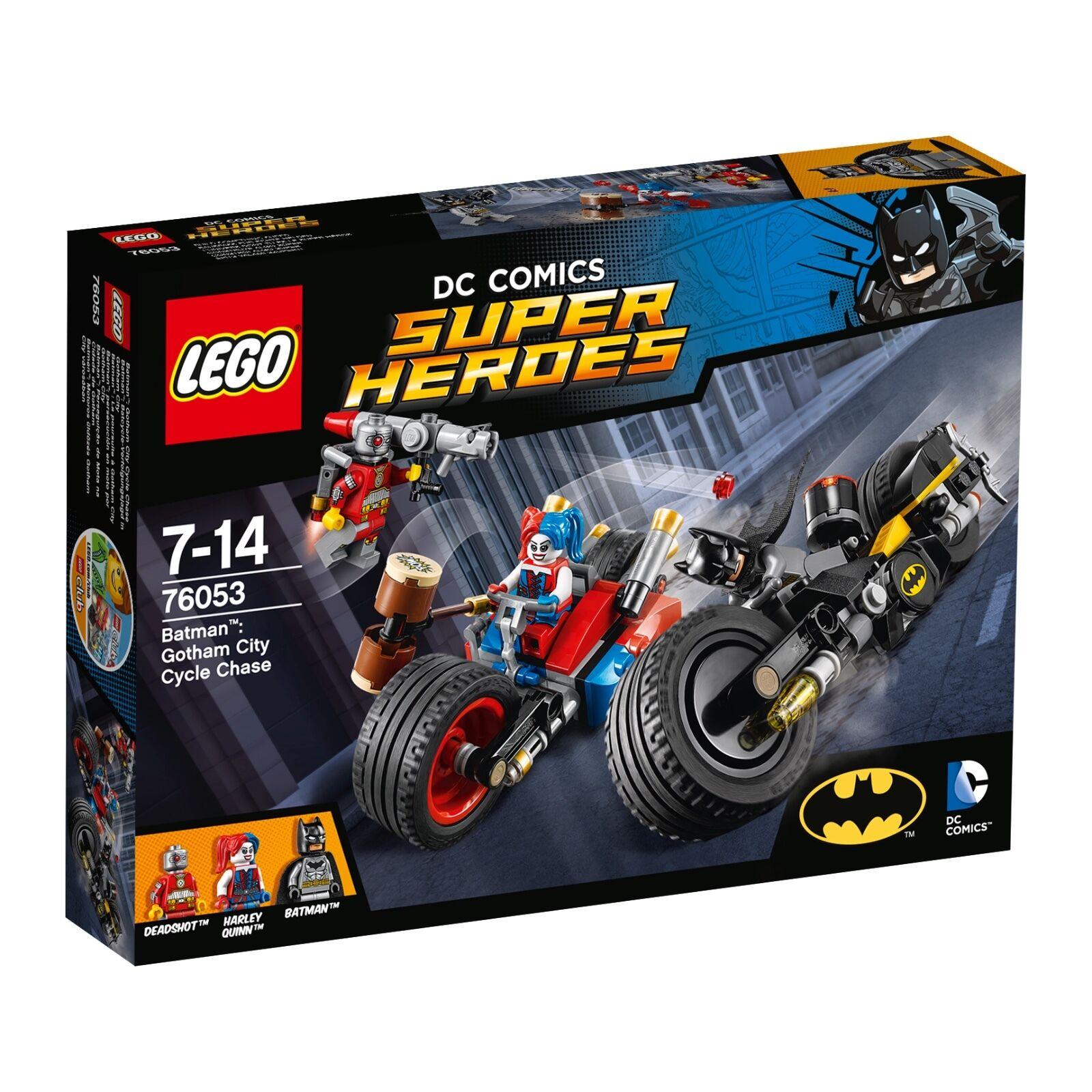 LEGO® DC Comics™ Super Heroes 76053 Batcycle-Verfolgungsjagd in Gotham NEU NEW