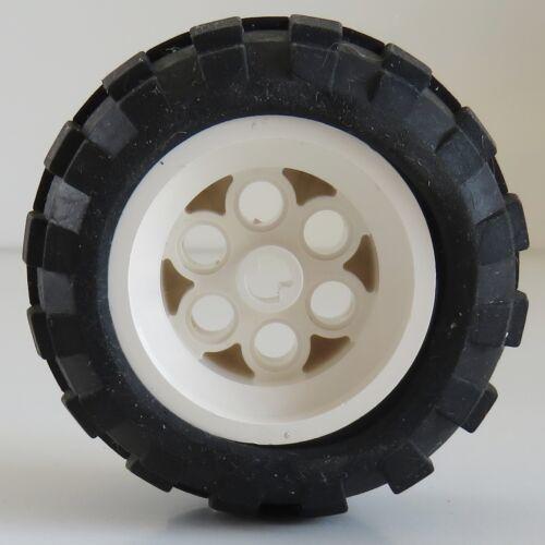 Reifen LEGO Technic weiß # 6595c01 Tire 56 x 30 R Ballon mit Felge