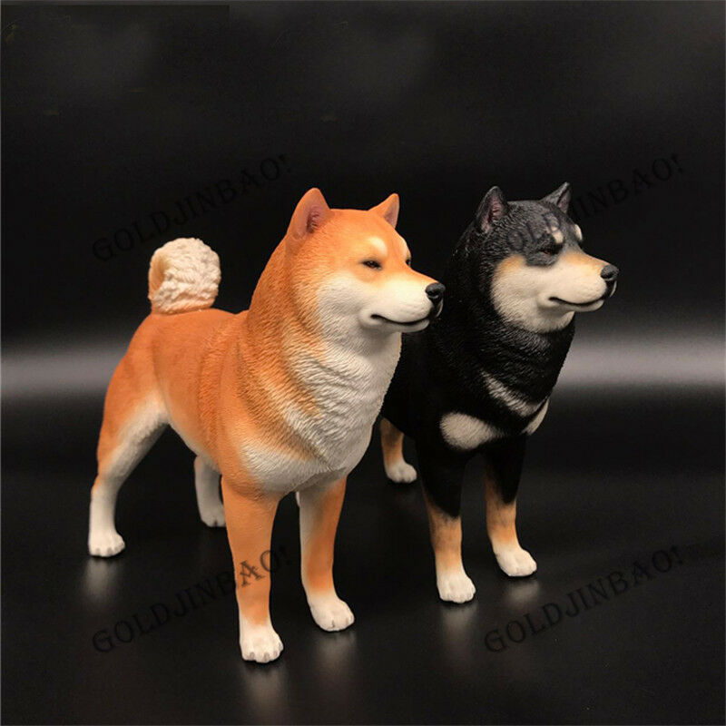 1/6 Scale Akita Model Doll Accessorie Statue Canis lupus familiar Car decoration