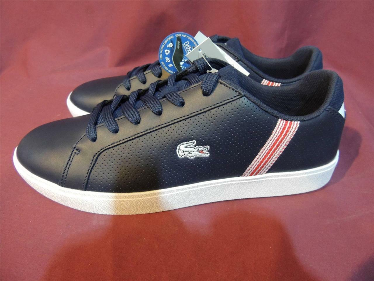 Lacoste Renard Cor Spm Dark Blue leather Mens 9.5 US