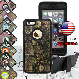For-Apple-iPhone-7-7-Plus-Heavy-Duty-Protective-Shockproof-Defender-Camo-Case
