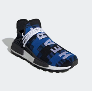 the best attitude 5111c c765e Details about New Adidas NMD Hu Pharrell x BBC Blue Plaid (EF7387), Men's  Shoes Sport Sneakers
