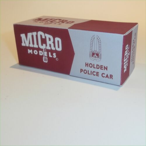 Micro Models GB  9 Holden Police Car empty Reproduction box 48-215 // FX