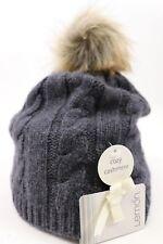 item 1 NWT LEMON Women s Charcoal Wool Cashmere Blend Cable Knit POM Winter  Hat -NWT LEMON Women s Charcoal Wool Cashmere Blend Cable Knit POM Winter  Hat 09ea5331c42