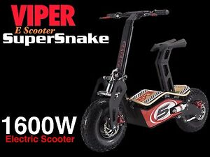 1600W 48V Electric Scooter Viper SuperSnake New 2017 Model Terrain Tyres - <span itemprop='availableAtOrFrom'>Felthem, London, United Kingdom</span> - Returns accepted Most purchases from business sellers are protected by the Consumer Contract Regulations 2013 which give you the right to cancel the purchase within 14 days after  - Felthem, London, United Kingdom