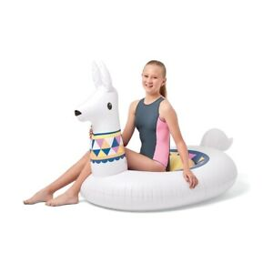 Giant-Inflatable-Llama-Blow-Up-Pool-Toy-Float-Swimming-Ride-On-1-5m-White-Party