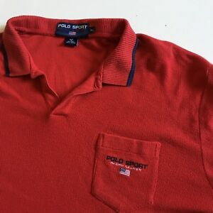 Shirt Xl Vtg About Ss Men's Lauren Ralph Details Knit Sport 100Cotton Red Polo fvb6gy7Y