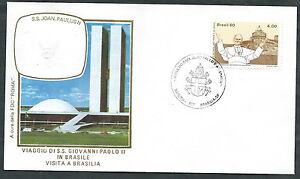 1980 Vaticano Viaggi Del Papa Brasile Brasilia - Rm1-2 Soulager La Chaleur Et Le Soleil