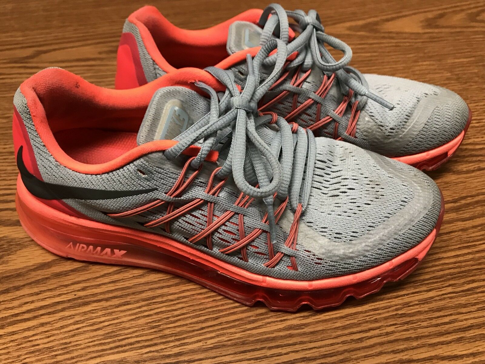 Nike 698903-009 Air Max Women's Gray Lava Red Pink Running Athletic Shoes Sz 7
