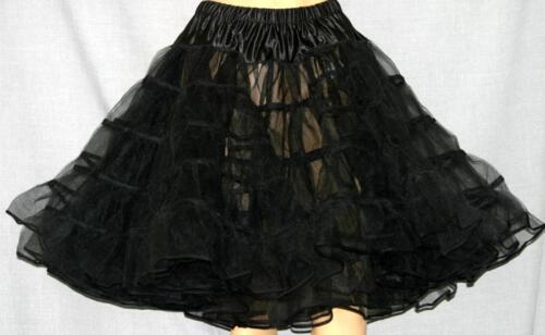 "BLACK SQUARE DANCE Crinoline POODLE SKIRT Sz S W25/""-40/"""