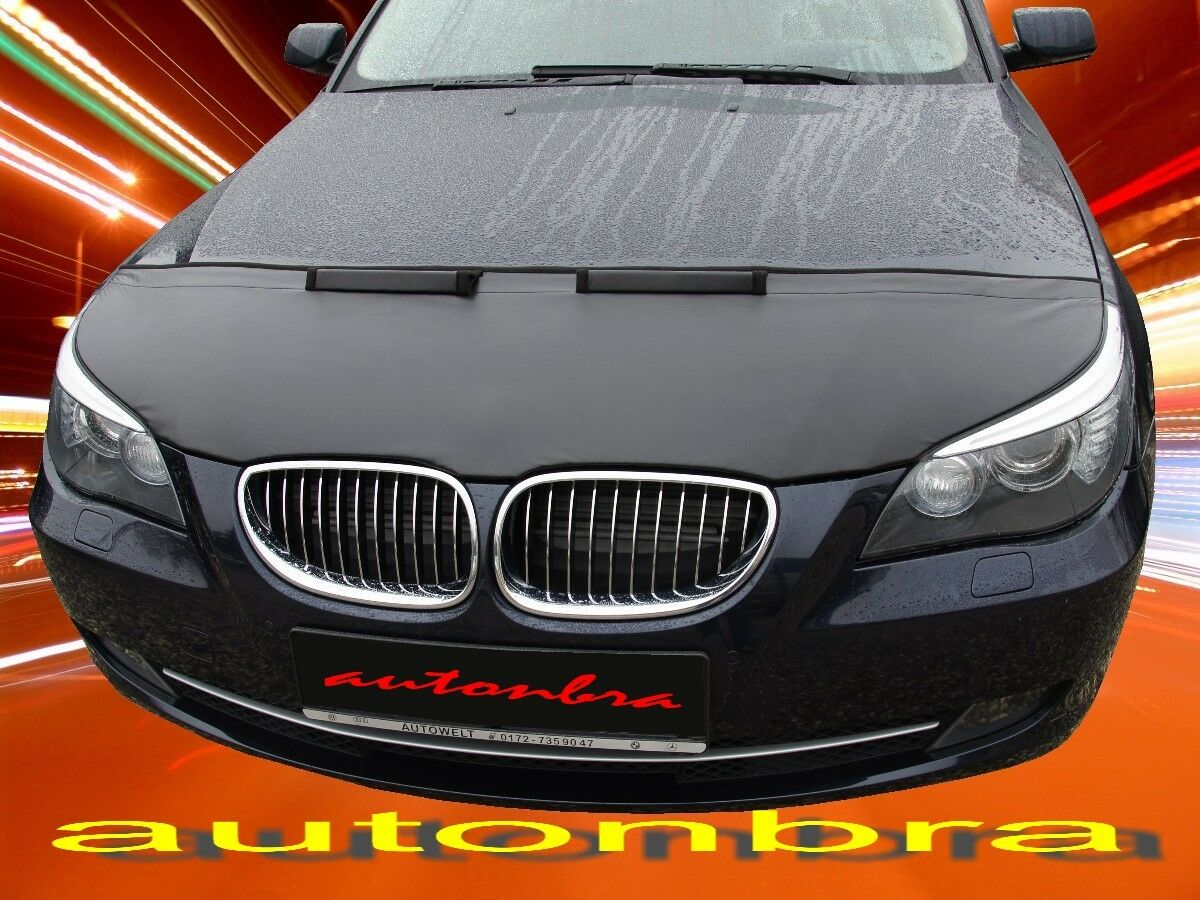 Hood Bra Front End Nose Mask For Bmw 5 E60 E61 2003 2010 Bonnet Bra Stoneguard Protector Tuning Covers Automotive