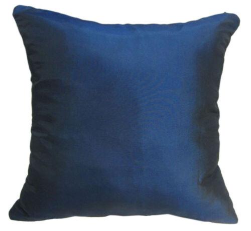 Ja137a 2 Pcs x Navy Blue Poly Taffeta Plain Cushion//Pillow Cover*Custom Size