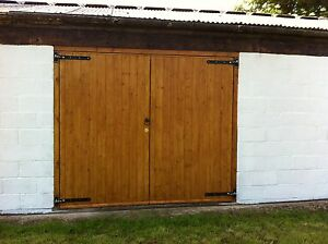 Side Hinged Hung Timber Wooden Garage Doors Gates - BARN DOORS | eBay