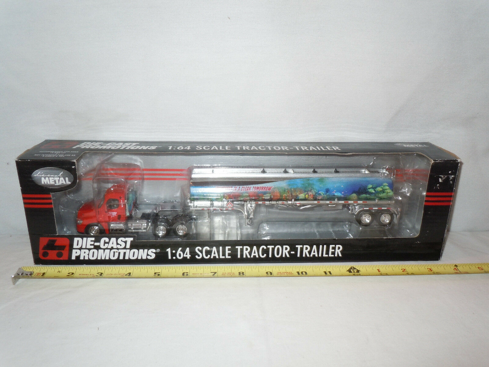 Usher Transport Freightliner Semi With Tanker By DCP 1 64th Scale