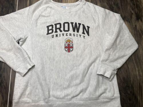 Brown University Champion Reverse Weave Gray Sweat