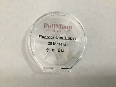 2-PACK—25 Meters of 3X Fluorocarbon Tippet...In Plastic Cases