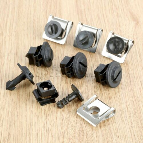 10Pcs Fasteners clips Dowel Pins Speed Nuts Fit for A4 A6 A8 Passat B5