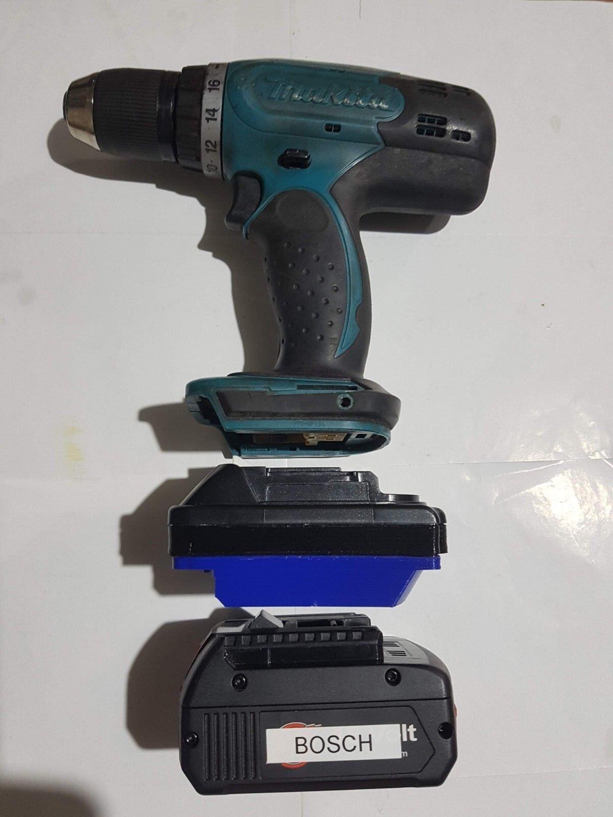 Bosch 18v Battery Adapter to Makita LXT Powertools