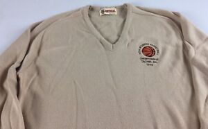 NCAA-Womens-Basketball-Sweater-VTG-1989-Adult-SZ-M-L-Championship-Tacoma-Wa-80s