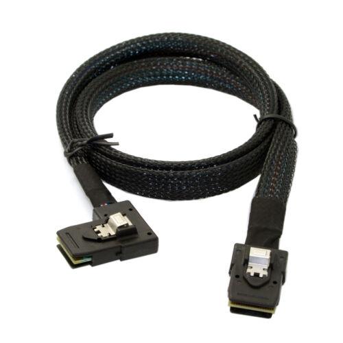 Internal Mini SAS SFF-8087 To SFF-8087 SATA Cable Flat Left Angled 90 Degree