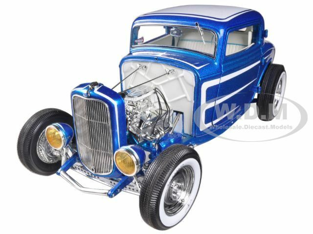 1932 FORD THREE WINDOW DEUCE RELEASE  3 COUPE blu 1/18 1 OF 996 ACME A1805008