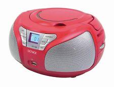 Boombox mit CD Player, USB, Radio und Aux Denver TCU-206 RED