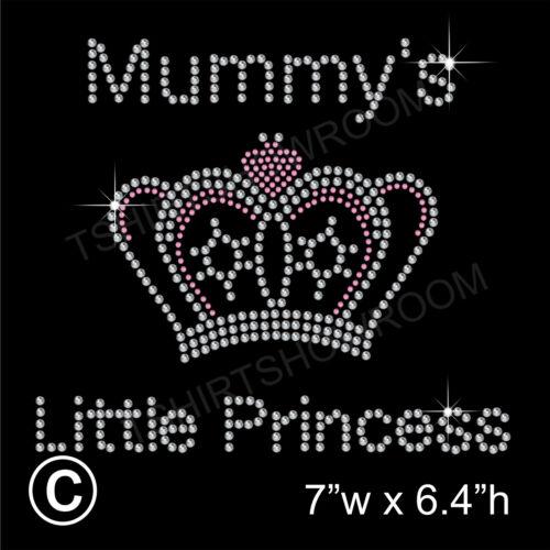 Mummy/'s Little Princess Rhinestone Transfer Hotfix Ironon Motif with a Free Gift