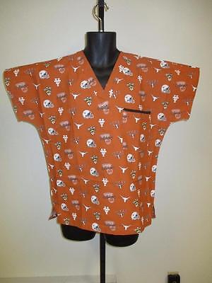 Unisex Texas Longhorns Scrub Scrubs Nurse Doctor Shirt Top NWT S,M,L,XL,2XL