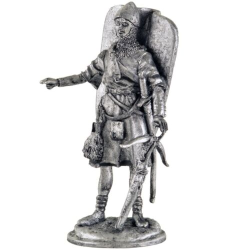 French crossbowman 15th century Tin toy soldiers 54mm miniature metal sculpture