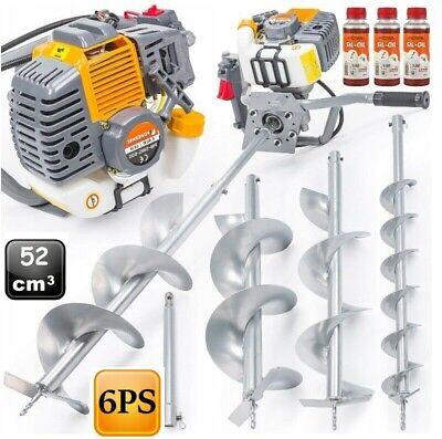 6 PS Benzin Erdlochbohrer Erdbohrer Pfahlbohrer Brunnenbohrer Erdbohrgerät