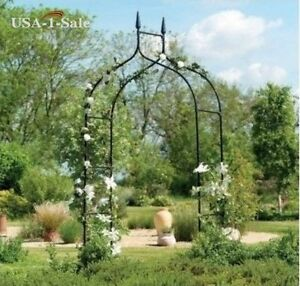 Image Is Loading Arbor Garden Arch Wedding Metal Trellis Garden Steel