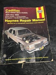 Haynes Auto Repair Manual 21030 Cadillac 1970 1993 Deville Seville Brougham Ebay