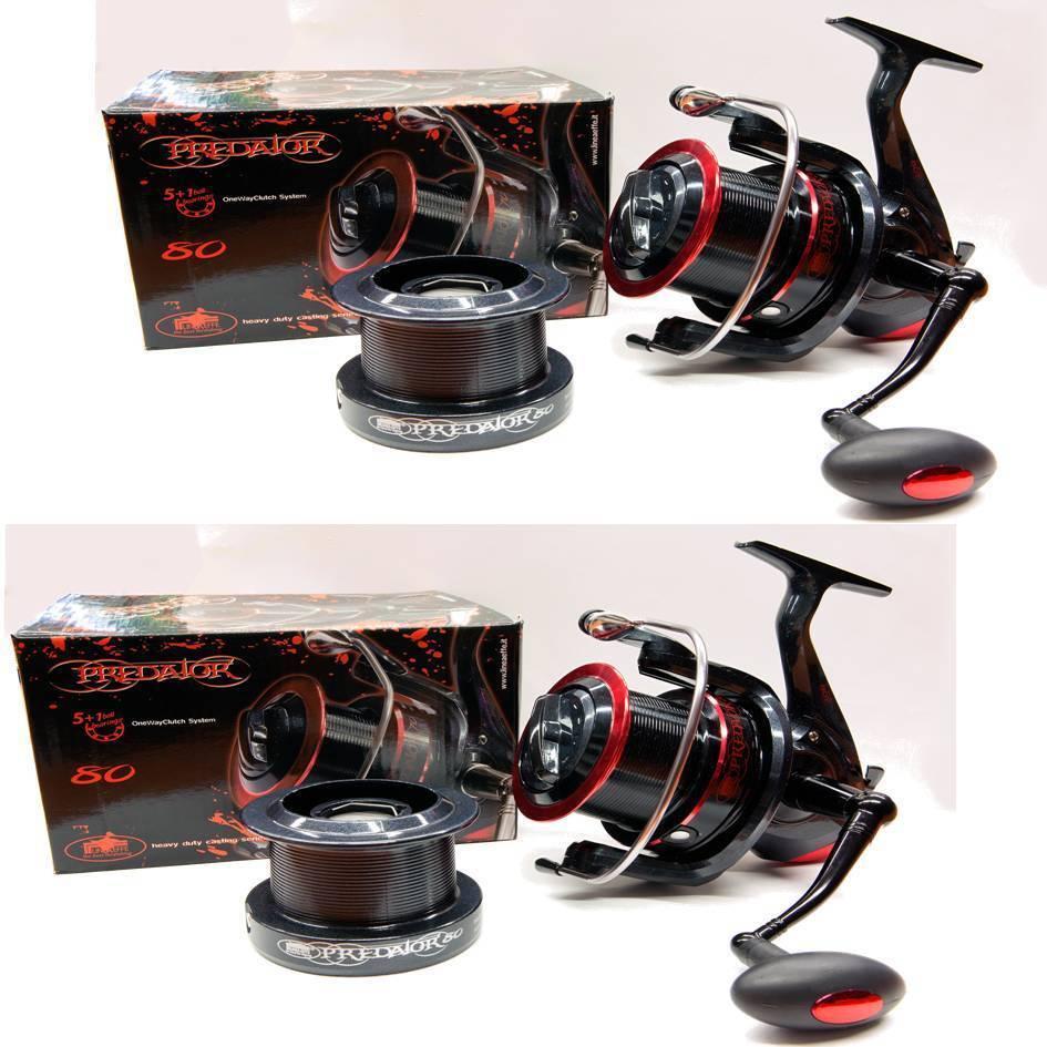 2 X  5+1 BB Deprojoador 80 Fijo Grande Pesca Jugara Cocheretes Lineaeffe Resistente  venta directa de fábrica