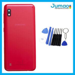 Vitre-arriere-capot-cache-batterie-Rouge-Lentille-Adhesif-Pour-Samsung-A10