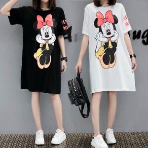 MINNIE MOUSE Disney Top Sweater Dress White Black Loose T SHIRT PLUS ...
