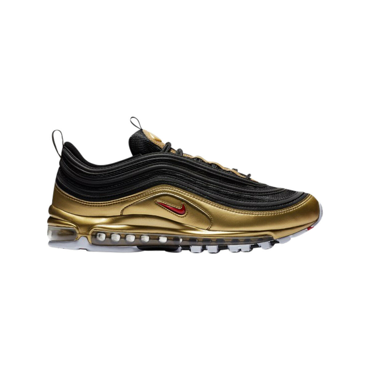 MEN'S NIKE AIR MAX 97 QS AT5458-002  METALLIC PACK  Black Red gold White SZ 5-13