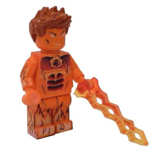 HUMAN TORCH Johnny Storm Fantastic 4 Minifigure **NEW** LEGO Custom Printed