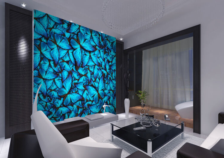 3D Blau Butterfly Painting 4336 Wall Paper Wall Print Decal Wall AJ WALLPAPER CA
