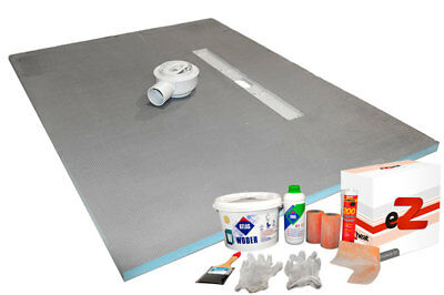 Wet room Kit Walk inWetroom Shower Tray Former with Drain including Linear