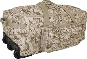 Mercury Tactical Gear Mini Monster Bag DDGC Rolling Duffel, Digital Desert Camo,