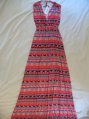 Rachel Pally Sleeveless Caftan Maxi Dress - Sz XS 'Granita Folk' Print NEW