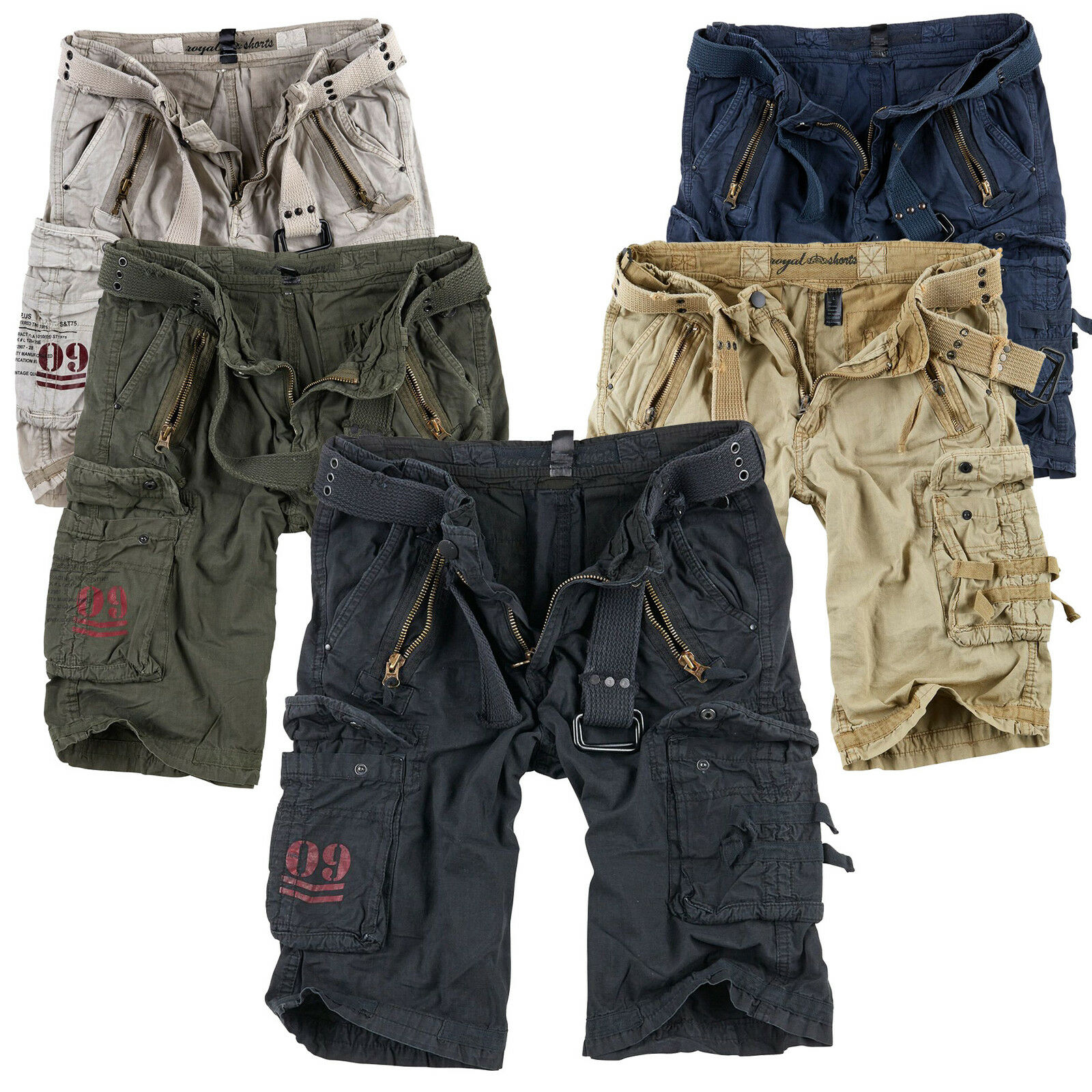 f23e3f59146728 Surplus Raw Vintage Royal Shorts Premium Bermuda Shorts Us Army Cargo  Trousers