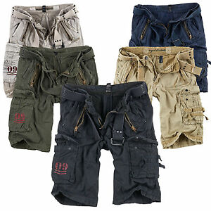 SURPLUS-Raw-Vintage-ROYAL-SHORTS-Premium-Kurze-Hose-Bermuda-US-ARMY-Cargohose