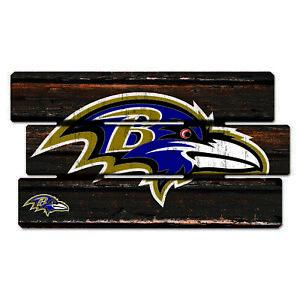 Baltimore-Ravens-Defense-Holzschild-XL-63-cm-NFL-Football-Fence-Sign