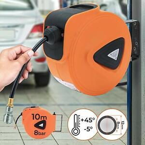 Enrouleur-devidoir-tuyau-pour-air-comprime-10-m-en-PVC-et-acier-Pression-8-bar