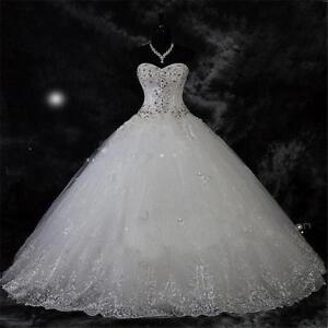 Details about Robe De Mariage New Arrival Lace Rhinestone Vintage Plus Size  Wedding Dress 2019