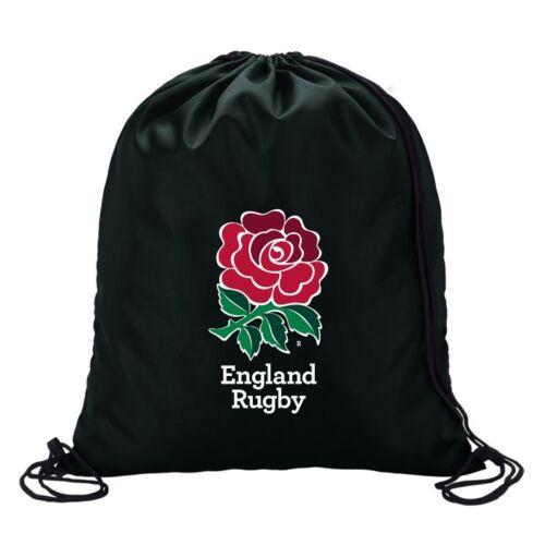 England Rugby Six 6 Nations Black drawstring school//PE//Gym//Kit bag