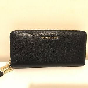 Details about MICHAEL KORS MERCER Admiral(navy blue) TRAVEL CONTINENTAL ZIP WALLET NWT $168