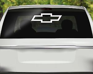 """1 Chevrolet Chevy Bowtie Back Window Decals Vinyl Die Cut Sticker Truck 24/"""" sale"""