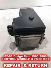 02-05 Dodge RAM 1500,2500,3500 Front Control Module & Fuse BOX - REPAIR SERVICE!